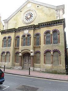 Colour photograph of Middle street synagogue circa
